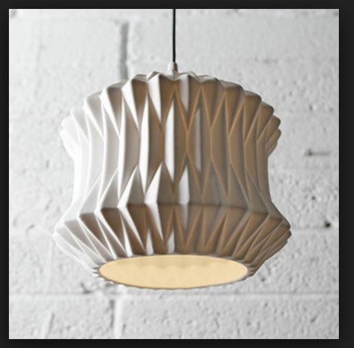 Ceramic fold pendant lamp