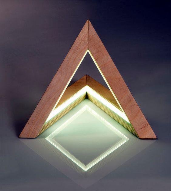 Triangle Lamp by Etsy's UshkiStudio