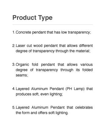 Parametric Lighting Fixture Product Type