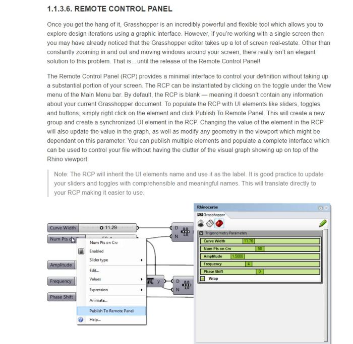 remote control panel cool feature